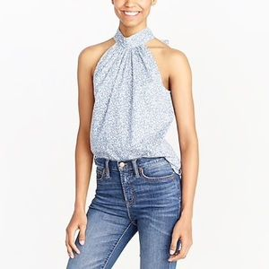 JCrew | Printed Tie-Neck Tank